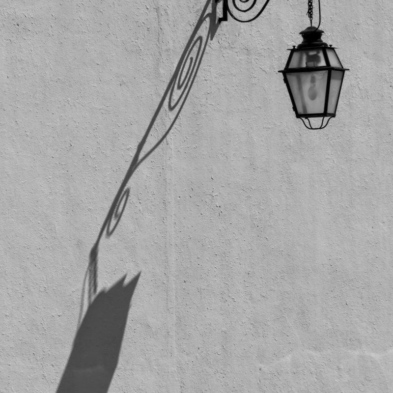Luz de rua em Estremoz Alentejo Portugal