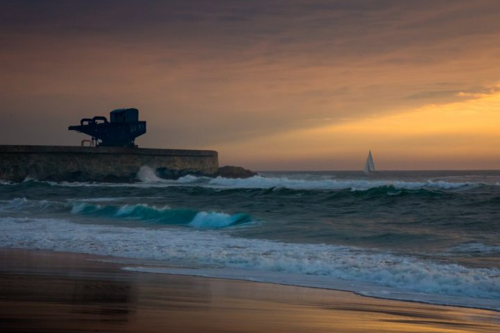 Leça da Palmeira. Porto, beach