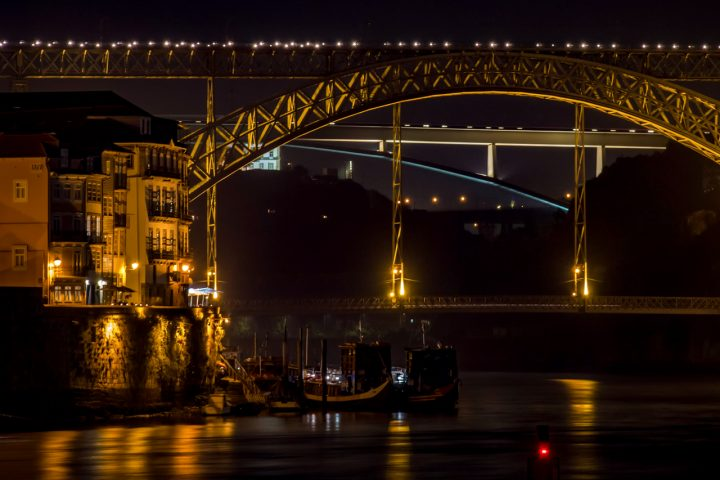 Luis I bridge at night