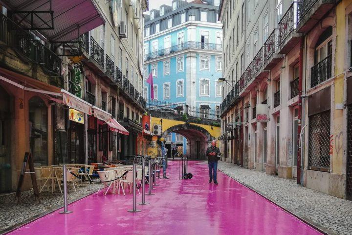 Lisbon-Pink-Street