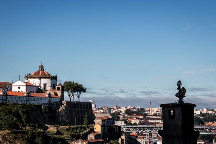 Serra do Pilar desde as Fontaínhas