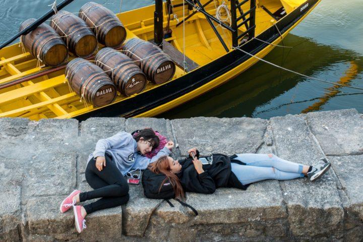 O barco rabêlo na ribeira do Porto